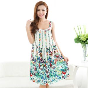 夏季韩版大码短袖睡裙棉绸睡衣胖mm200斤孕妇裙加大加肥宽松睡裙