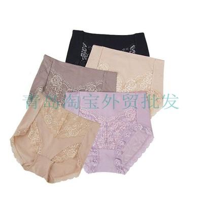 美丽的日本单女式内裤花边莱卡棉蕾丝三角裤女内裤原单