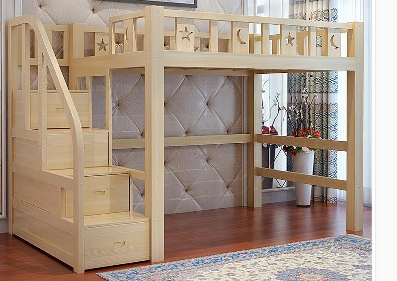 многофункциональный постели высота постели взрослых детей в сочетании с кровати с подчиненной кровати деревянный шкаф компьютерный стол повышенные кровать