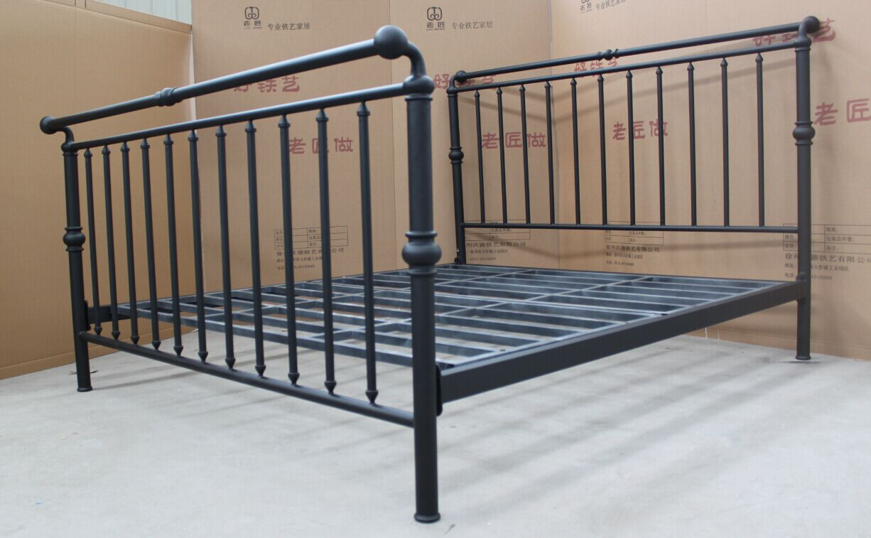 Iron bed double bed, 1.8 meters single bed, 1.5 high-end couples, double bed, princess bed, bed for children, bed for husband and wife