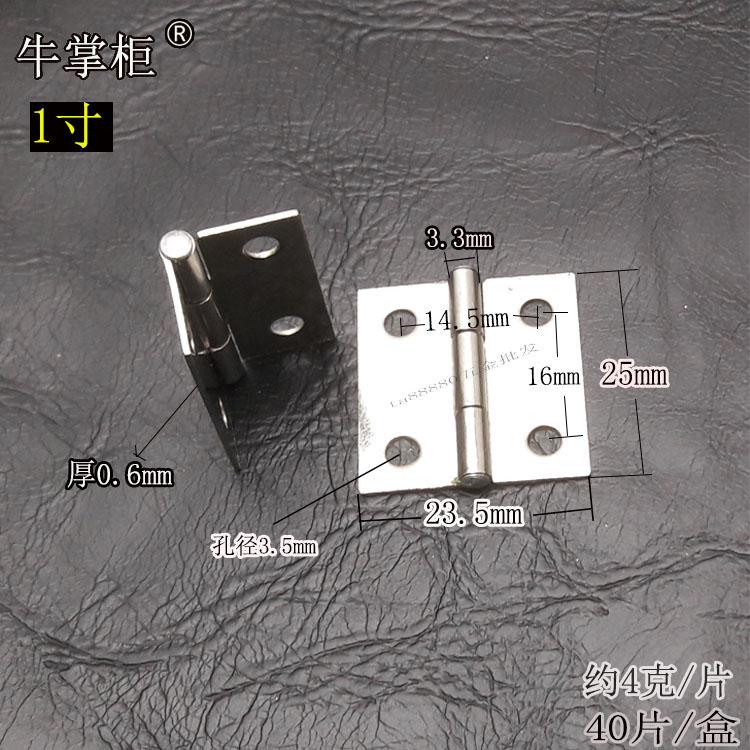 Pequeñas bisagras de acero inoxidable de 1,5 pulgadas de 1 pulgada 2 pulgadas de 2.5 pulgadas de 3 pulgadas de 3,5 pulgadas 4 pulgadas sin abrir puerta de bisagra.