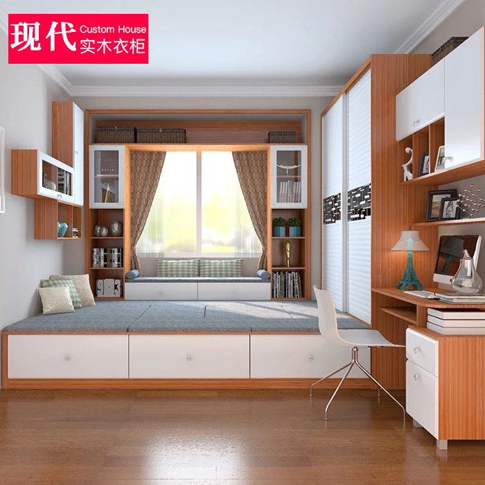 Modern minimalist bedroom bedroom m bed tatami custom window tatami platform