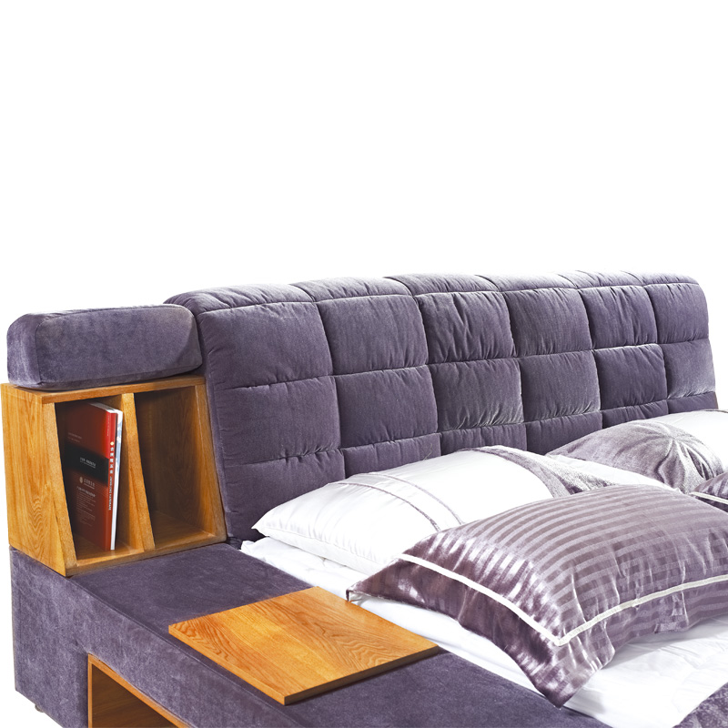 Simple modern fashion fabric bed bed bed bed washable soft bed cloth the large-sized apartment explosion