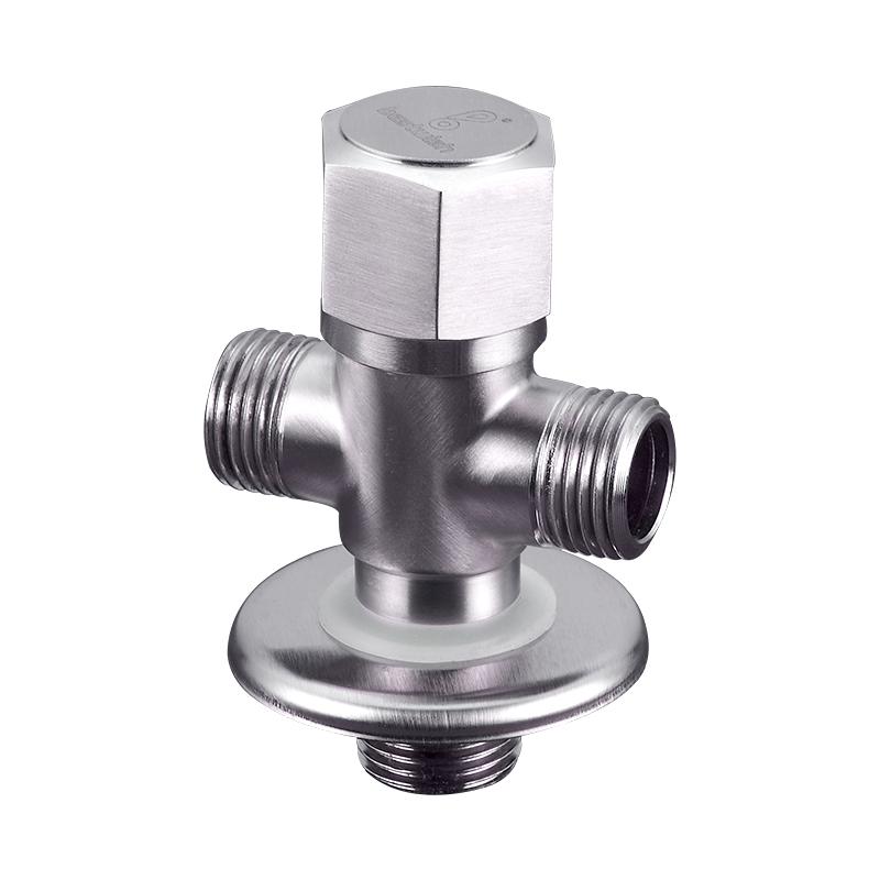 三通角弁分流器304ステンレスバルブスイッチ双控止水八字冷熱角弁に二出