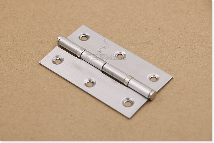 Stainless steel flat open hinge bearing, wooden door, cabinet door hinge, band shaft, noise hinge, a pair of price
