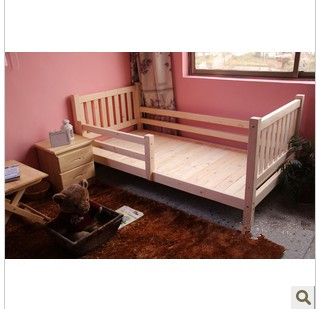 Special package of solid wood children's bed guardrail, simple white furniture, single double pine, idyllic princess can be customized