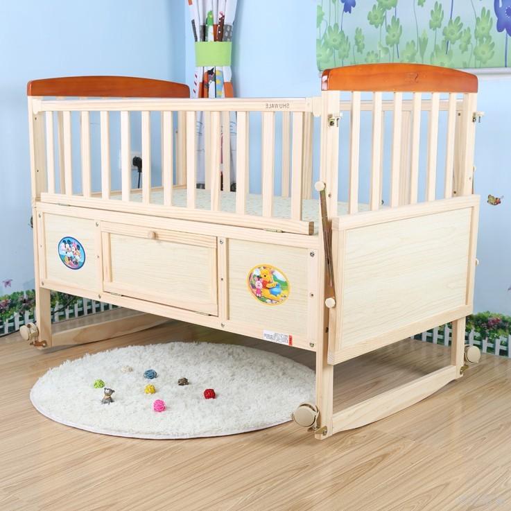 Με το μπουκάλι με το γάλα σου έστειλε το μέγεθος κουνουπιέρα 娃乐 μωρό κρεβάτι ξύλο χωρίς μπογιά το μωρό στο κρεβάτι του λίκνο ββ μεγάλο κρεβάτι