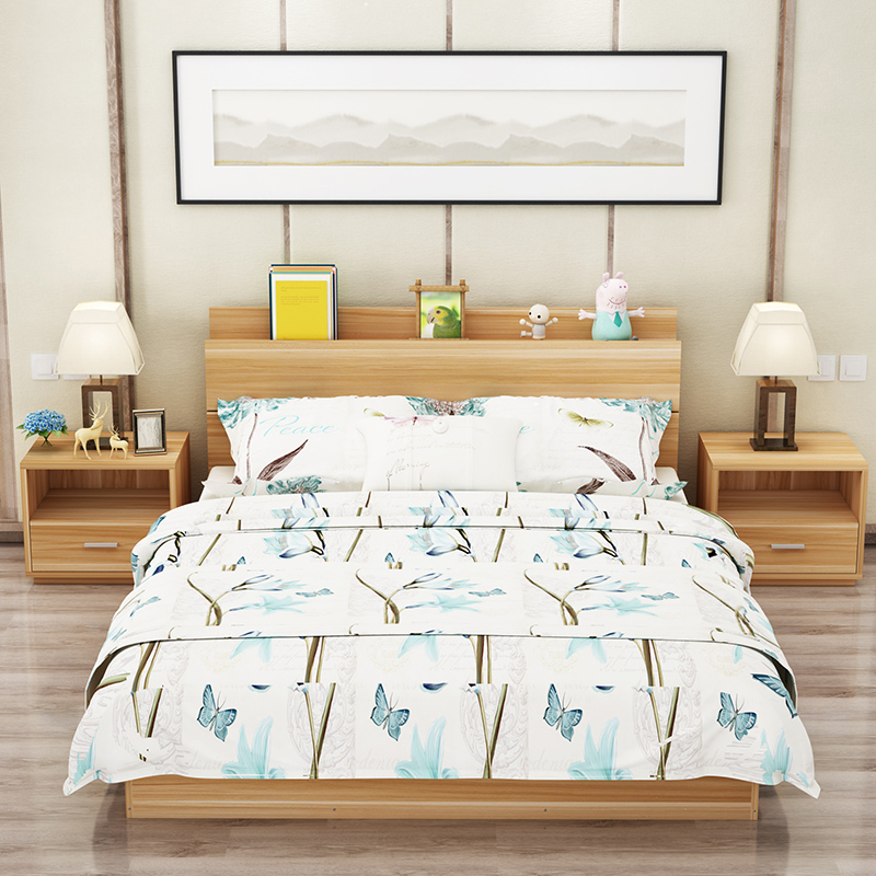 Modern minimalist type bed 1.2m1.5 meters 1.8 meters high double tatami bed storage box containing bed bed