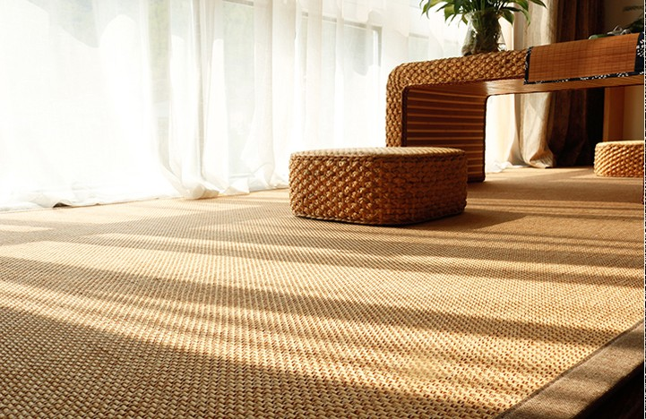 The wind and the Japanese tatami mat Piaochuang yoga mat cushion bedroom bamboo bamboo mat bamboo living room carpet