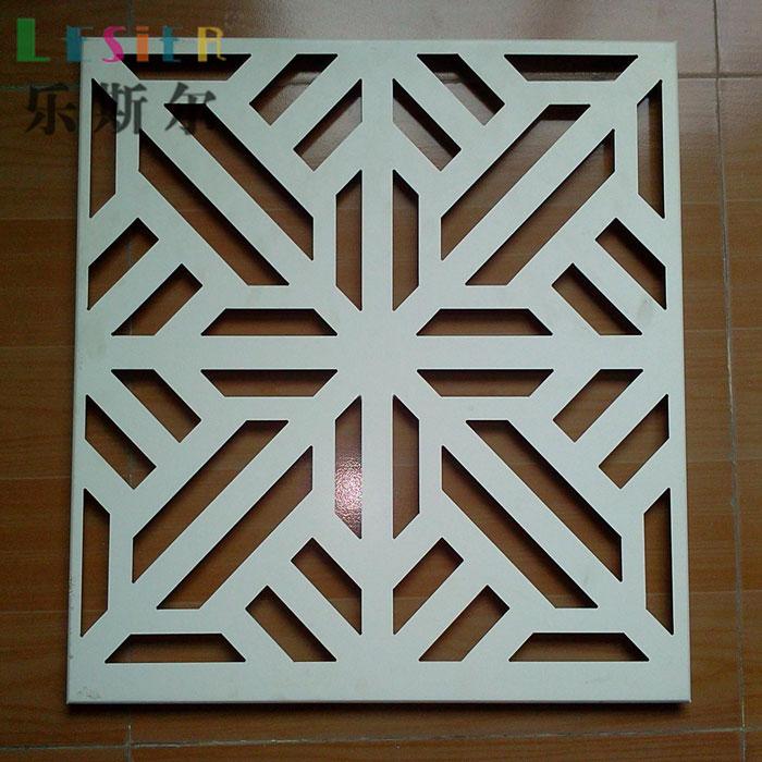 La empresa de materiales de construcción de Gimnasio de chapa de aluminio hueco tallado de golpes de aluminio de la pared de chapa de madera de aluminio de los fabricantes