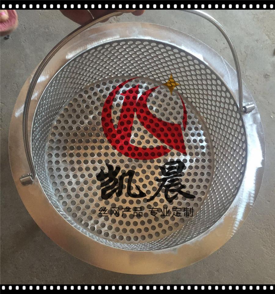 304 stainless steel net barrel mesh plate welding filter cartridge cylindrical filter hole circular hole net