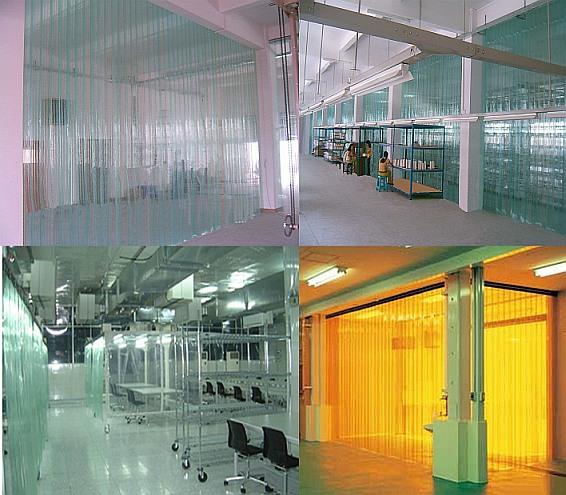 El polvo de PVC transparente de plástico suave cortina de aislamiento térmico aislamiento plástico adhesivo cortina cortina de aire acondicionado frío anticongelante