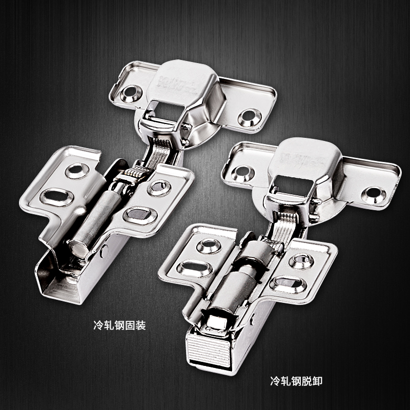 304 stainless steel hinge damping buffer hydraulic wardrobe door hardware full cover plane bend pipe hinge
