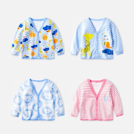 宝宝秋装外套女0一1岁 婴儿时尚韩版纯棉薄款上衣春秋男宝宝开衫