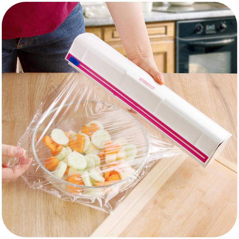กล่องตัดฟิล์มเครื่องตัดม้วนกระดาษเล็กๆที่วางตู้เย็นห้องครัวของใช้ในครัวเรือน
