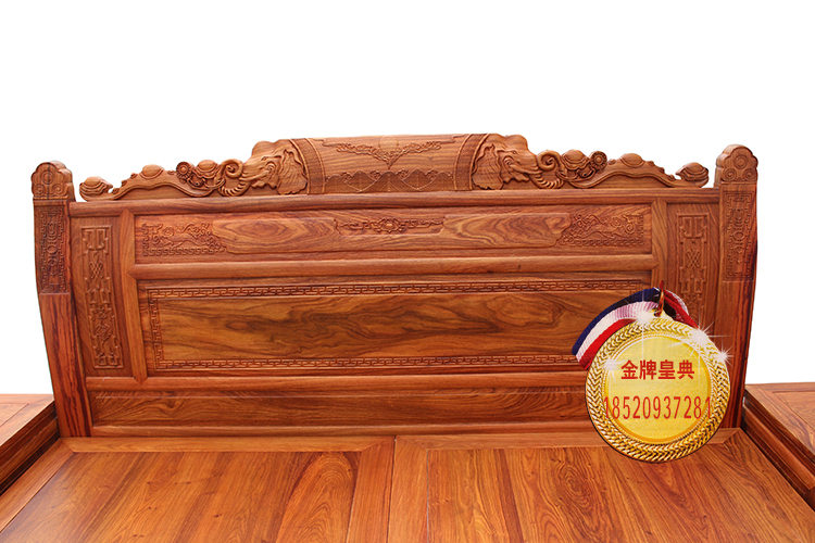 Rosewood double bed, hedgehog rosewood, 1.8 meters big bed, rosewood elephant head big bed, Chinese solid wood wedding bed, post mail
