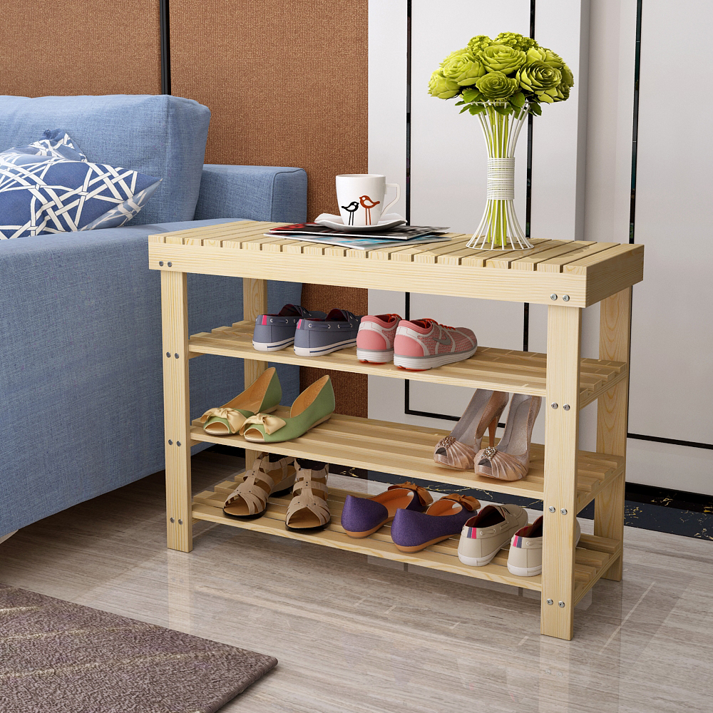 Special offer wood shelves shelf modern minimalist fashion household dust shoe shoes stool entrance