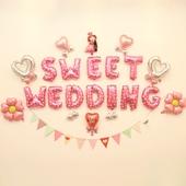 新婚房子装饰背景墙情人节布置铝