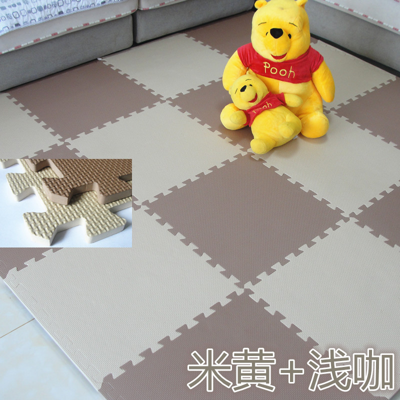 Black and white stitching foam pad children puzzle crawling pad 60 large bedroom dormitory household thickened tatami