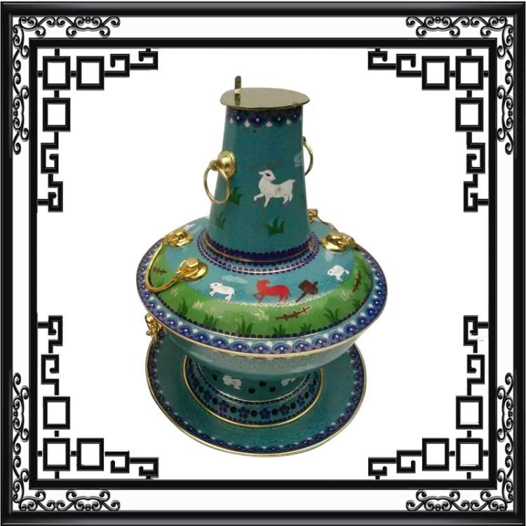 пекин большой старый перегородчатой древесный уголь хого сябу утолщение медный горшок горшок ручной электромагнитная печь