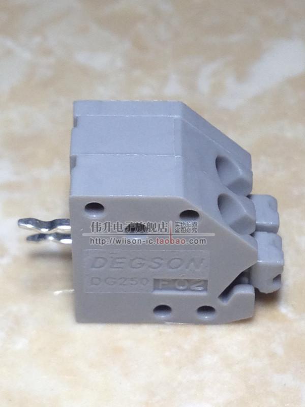 DG250-3.5-2P Kao Nova emenda Mola parafuso Livre de 2 hole PCB terminal connector