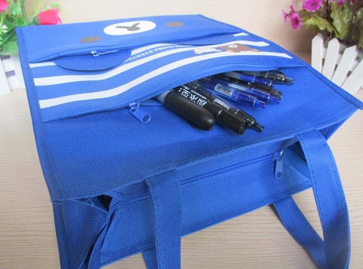 Vandtæt store lærredstudenter A4 tutorial taske håndtaske taske taske kunst klasse Oxford taske