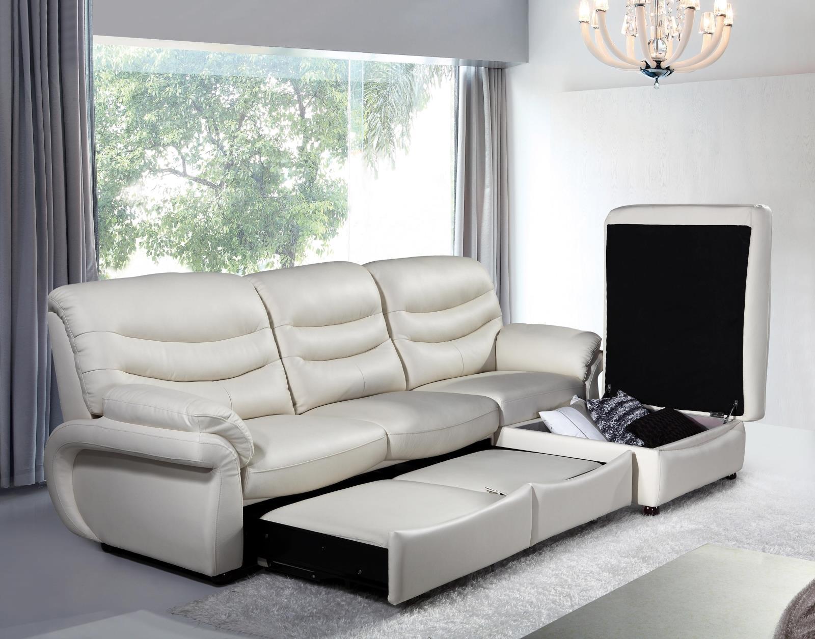 δέρμα δερμάτινο καναπέ κρεβάτι συνοπτική σαλόνι ένταση 3 ξαπλώστρα γωνία πολλαπλών λειτουργιών αποθήκευσης den συνδυασμό διπλής χρήσης