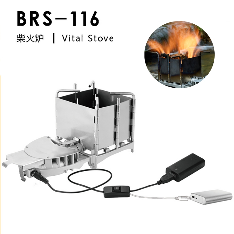 New brother BRS-116 outdoor camping firewood stove firewood charcoal stove charcoal barbecue furnace blast furnace head