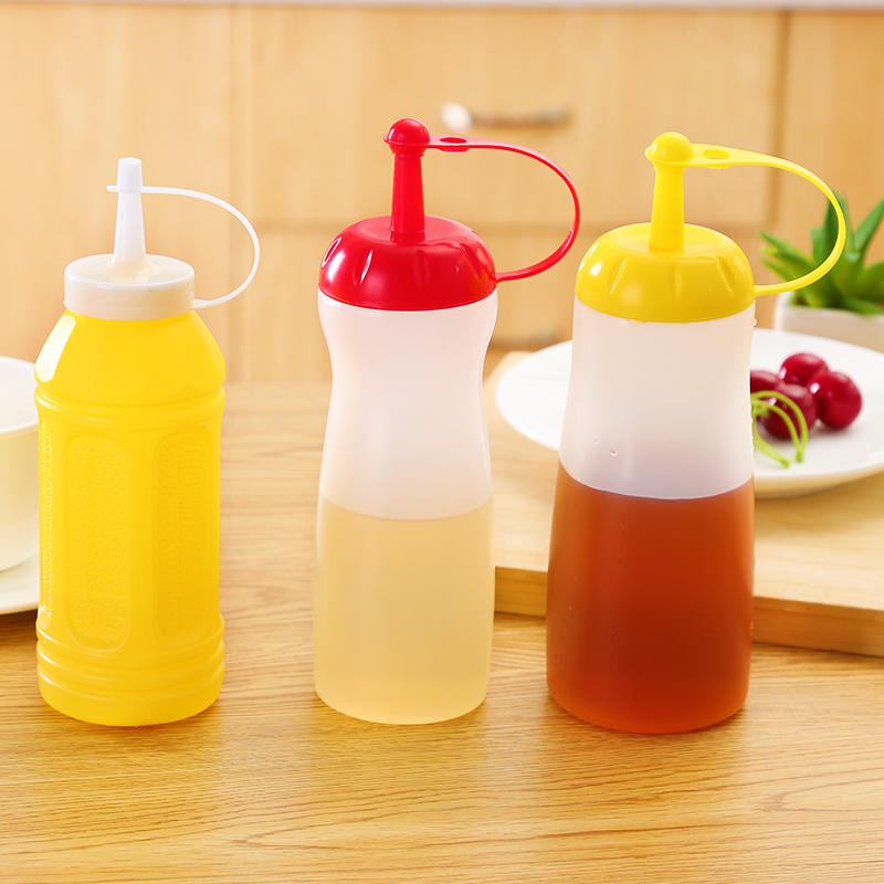 Plastic bottle decorating pot pot sauce squeeze tomato sauce jam salad sauce seasoning bottle kitchen condiment squeeze bottle