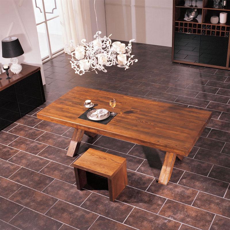 Marque de meubles en bois massif BZTX02 nordique D9 série de type X de pieds de table table de 2 mètres de table table simple moderne