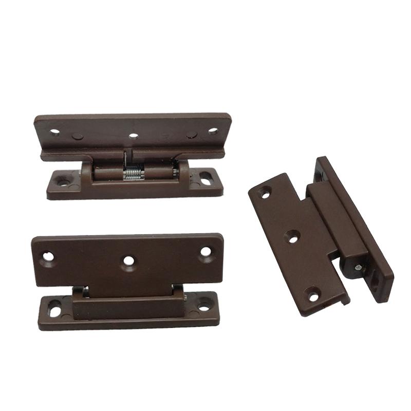 The wardrobe dust side plastic hinge brown plastic spring hinge door spring hinge door furniture edge accessories