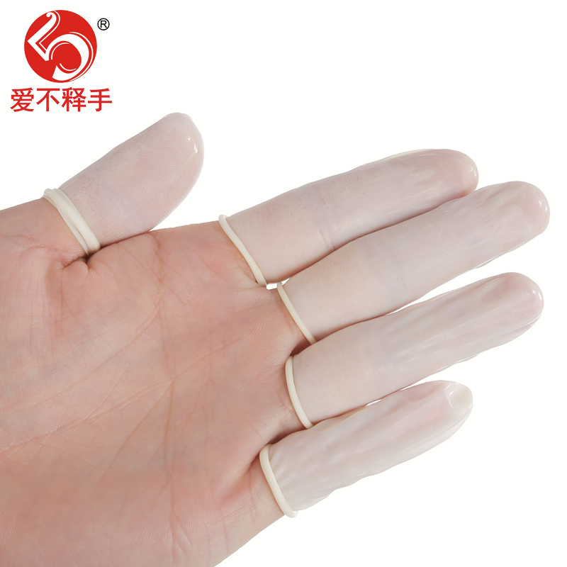 使い捨てゴム指のカバースリップ美容エマルジョン防静電オフィスネイル指セットの紙幣計算労働保護