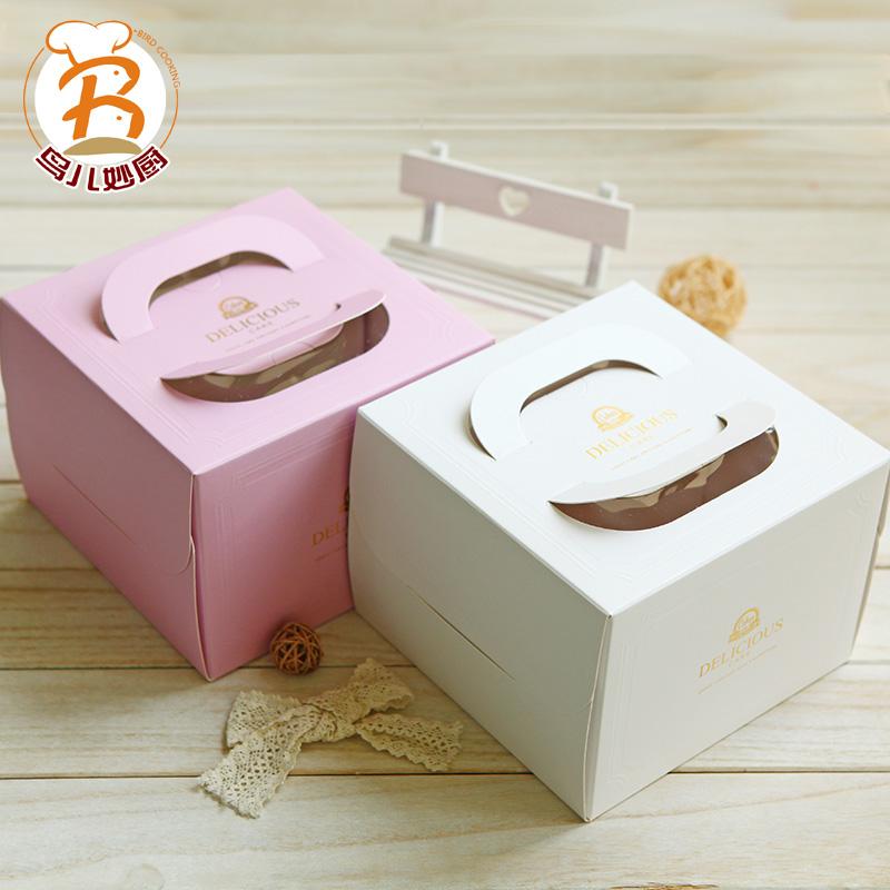 洋菓子の装飾DELICIOUS箔押し净素四角形に点セット携帯ケーキの箱よんしよ色洋菓子箱ろく/はち寸