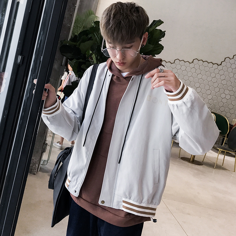 A literary man and men @ handsome coat 2017 new trend of Korean students all-match leisure jacket