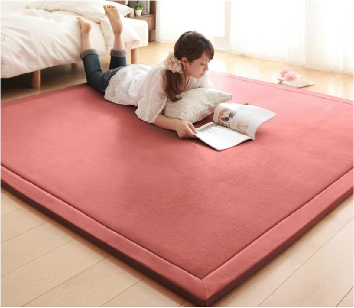 Suede thickened cushion pad bedroom living room table bed tatami antiskid mat mat in custom