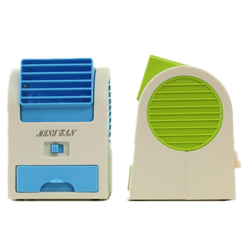 De batterij van goederen voor tweeërlei gebruik kleine mini - koelkast - fan slaapzaal kantoor turbine Bureau geen blad van airconditioning.