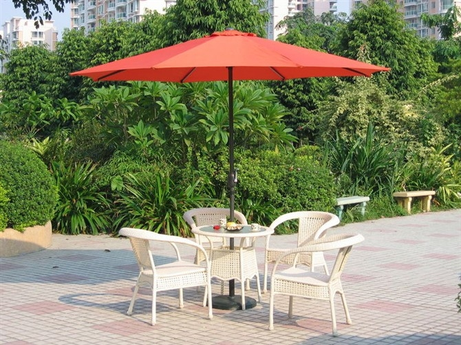 户外遮阳伞 庭院伞 中柱遮阳伞 保安岗亭伞