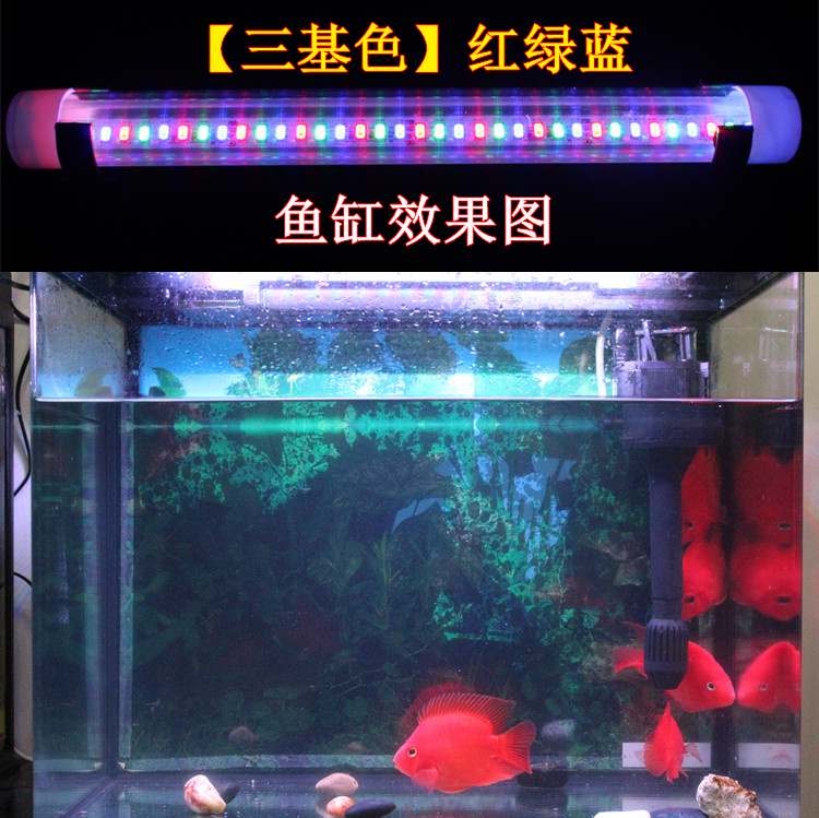 Colorful LED water lamp highlight water fish seven fish tank, dragon fish led special waterproof lamp fish LED