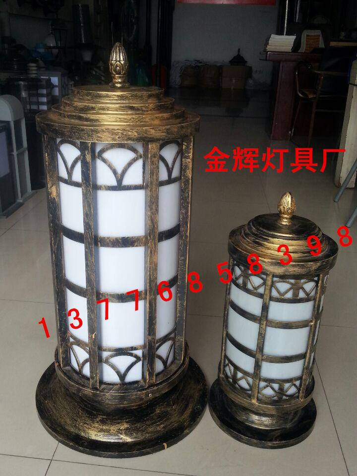 墙头灯 柱头灯围墙灯圆形柱子灯大门别墅庭院灯具户外灯