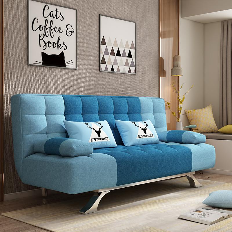 Τον καναπέ - κρεβάτι πτυσσόμενου σαλόνι μικρό διαμέρισμα διπλό 1,2 m 1,5 Nordic ύφασμα μονό ξύλο πολυλειτουργική διπλής χρήσης