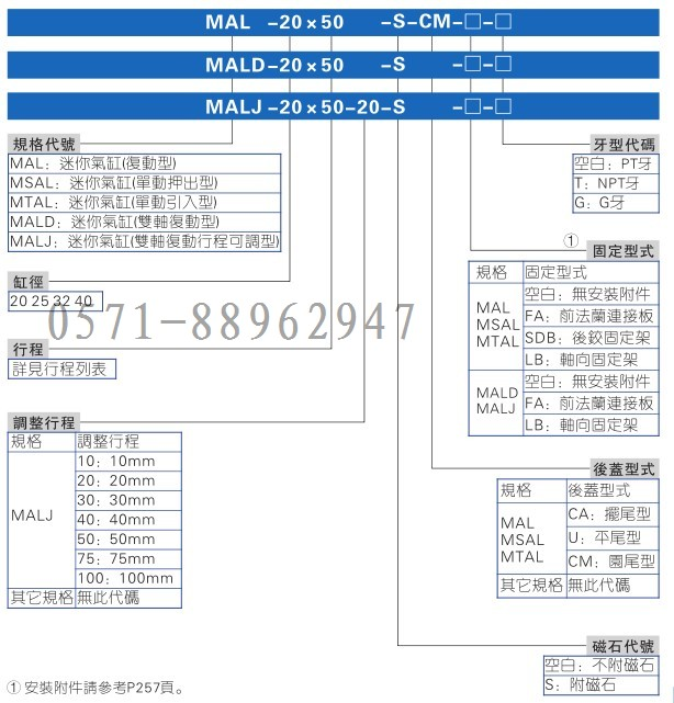 MAL40X200 mini cylinder bore 40mm stroke 200mm two end cap oxidation treatment.
