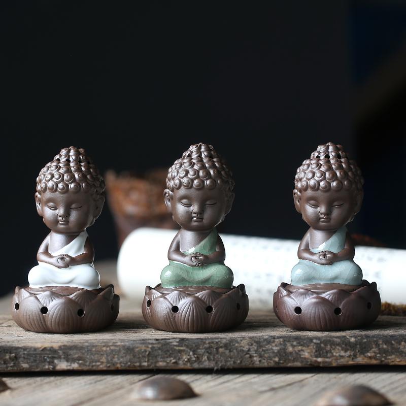 устройство нематериальных ge ru алой копченый печь печь с небольшой Татхагата кадило Будда сандалового дерева украшения керамическая горелка
