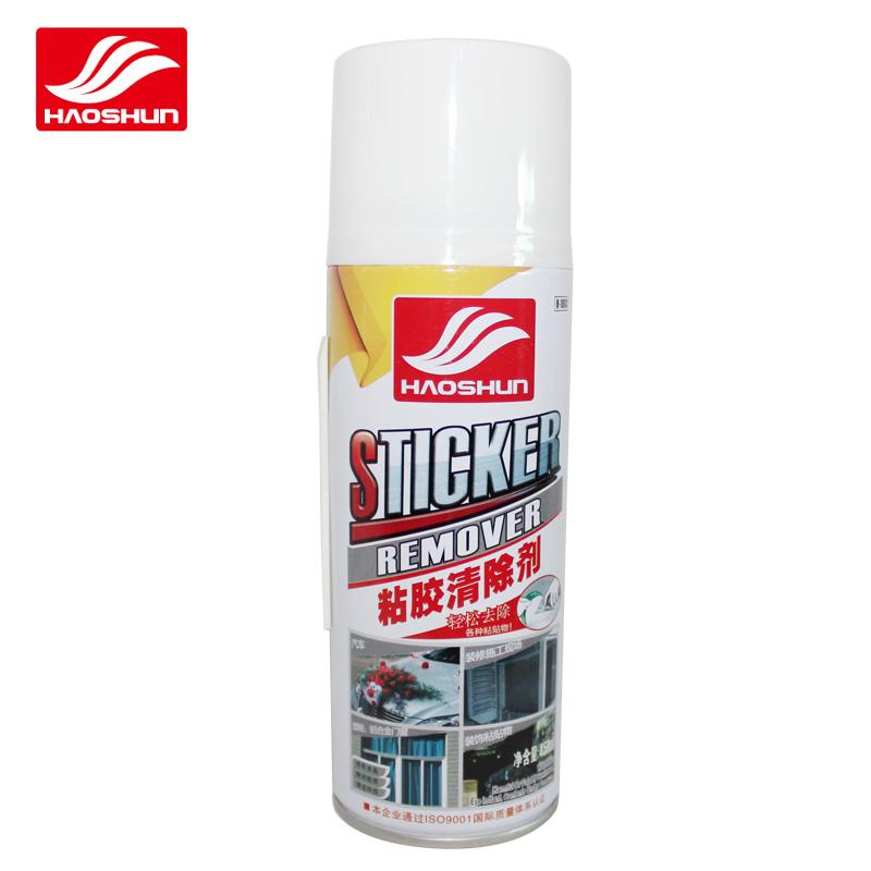 Auto eliminar pegatinas con Sticky viscosa con vidrio claro asfalto de limpiador de ventana.