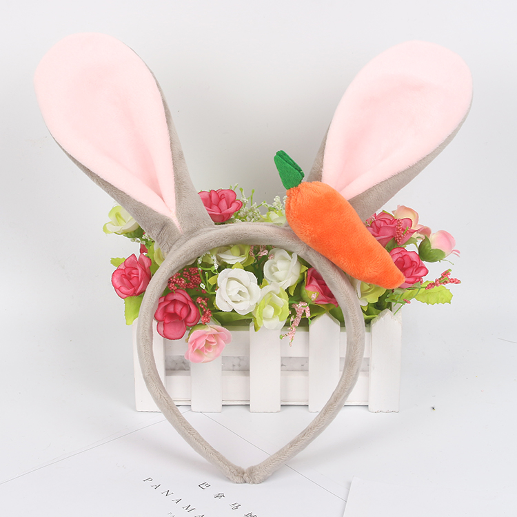 Show Judi rabbit ears headband cute plush cartoon festival Disney sell adorable headband hairpin headdress