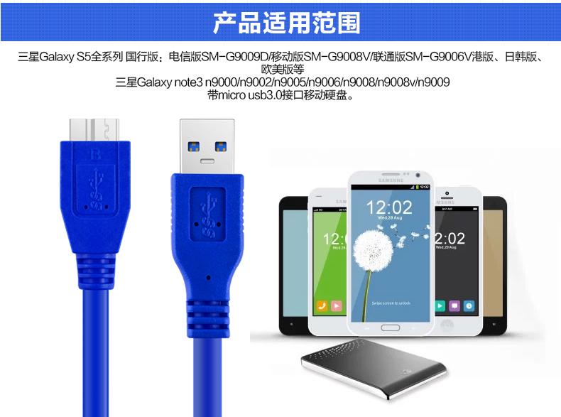 Samsung note3 usb3.0 mobile festplatte Daten - erhebung der Daten - Linie Android - S5 datenkabel 1,5 m