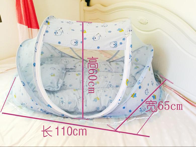 Το κρεβάτι το πτυσσόμενο κρεβάτι μωρό κουνουπιέρα ελεύθερη εγκατάσταση γιουρτ με κρεβάτι με την υποστήριξη των νεογέννητων παιδιών ηλικίας 0 - 3