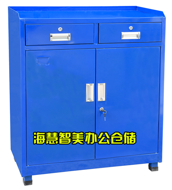Tool cabinet, heavy thickening drawer type double door toolbox, parts cabinet workshop, iron sheet hardware tool cabinet