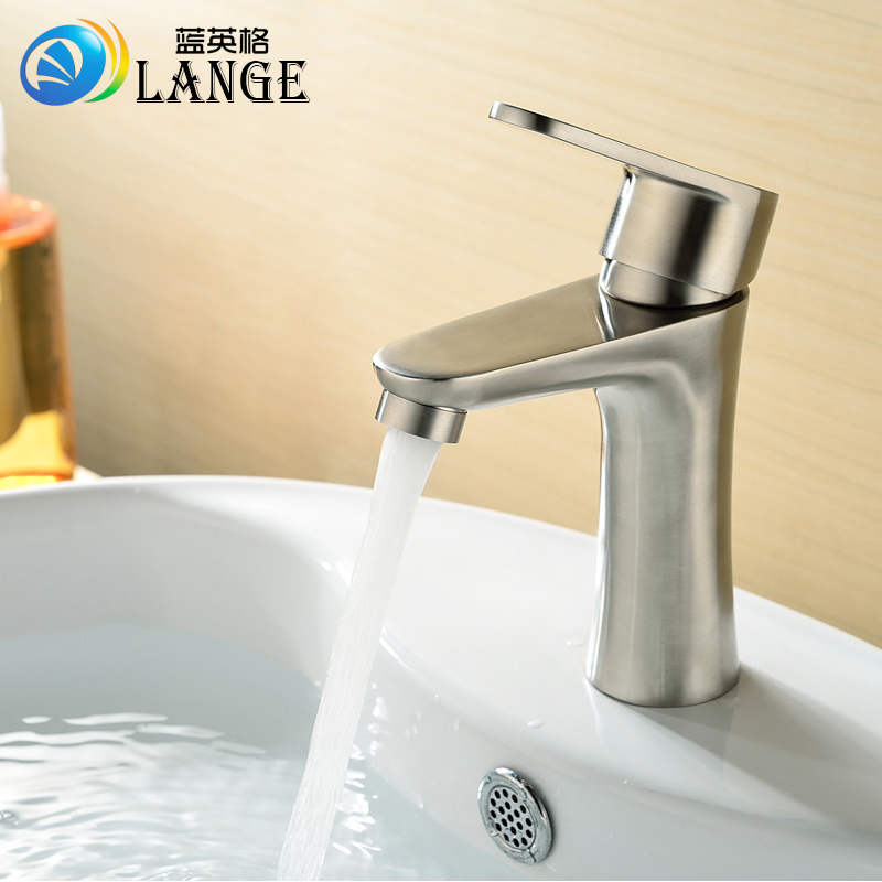 Copper ceramic core single single hole cold oxidation stage basin faucet washbasin bathroom basin faucet