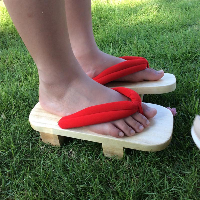 民族夏季凉鞋日本板凳