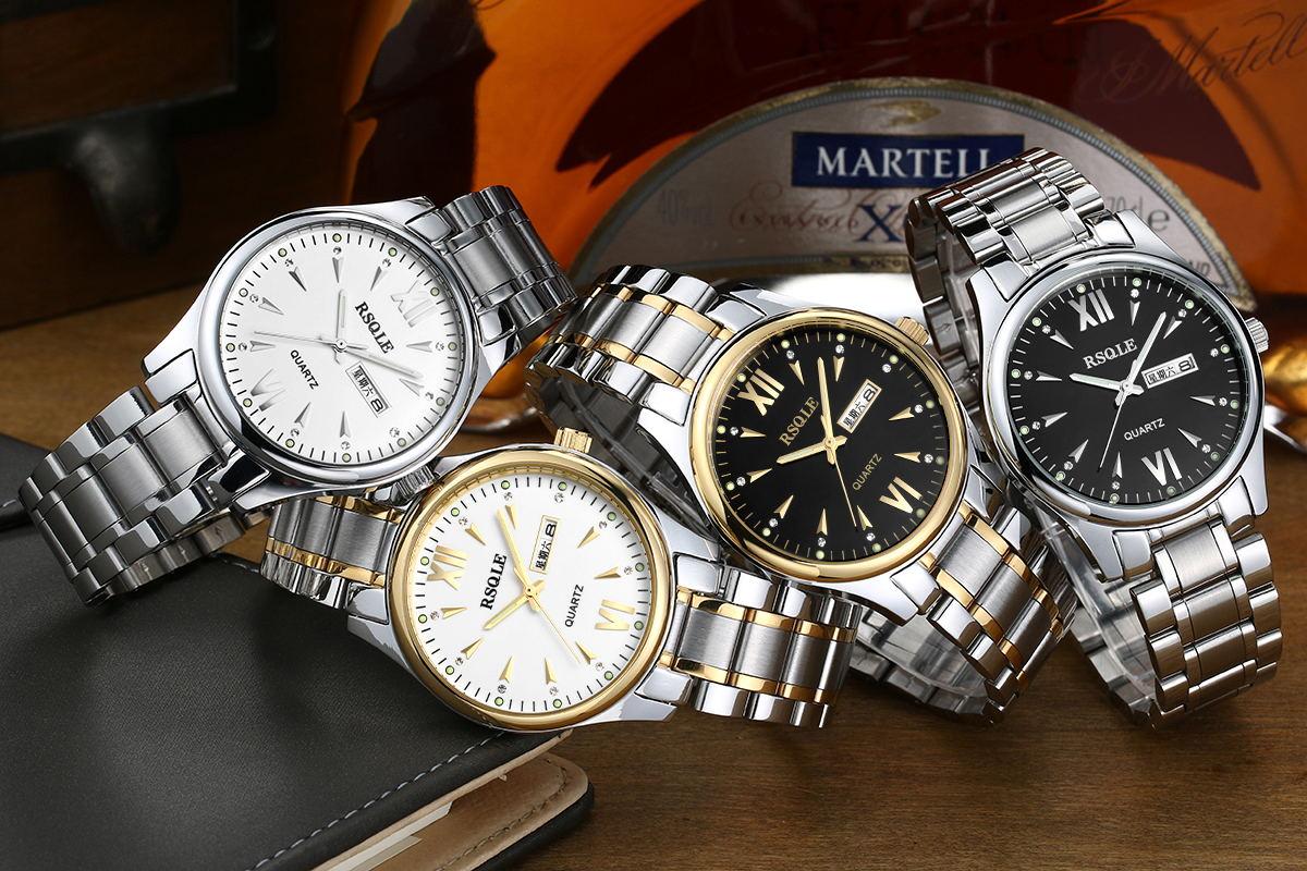 rossini - ck maskiner i dubbelt visa män mode för män i rostfritt stål med vattentäta klocka klocka klocka?
